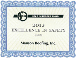 Excellence in Safety Award 2013