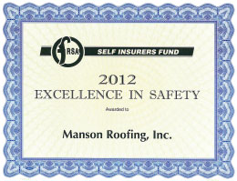 Excellence in Safety Award 2012